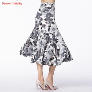 Ballroom Dance Skirt 2018 New Women Leopard Print Fishtail Skirt Lady's Latin Waltz Tango Dance Competiton/Practice Costumes