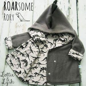 Bebek erkek dinozor mont 2018 Sonbahar Kış çocuk Hoodies Hırka Ceket çocuk Dış Giyim çocuk Giyim C4537