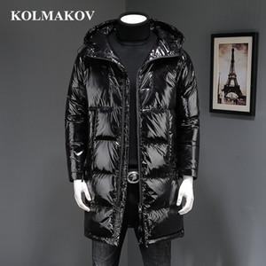 KOLMAKOV 2018 Calidad superior Nuevo Invierno Negro Abrigos largos impermeables Abrigos y chaquetas de pato para hombre Vestido de lujo Homme Hombres M-3XL