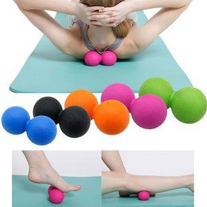 TPE Peanut Massage Ball Pour Pilates Yoga - Relâchement Myofascial Fitness Massager Roller Ball Lacrosse Massage Du Corps Fitness Ballons