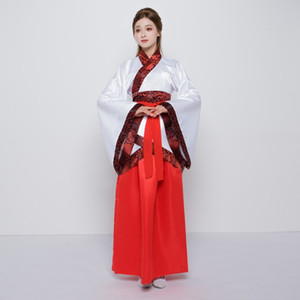 2018 summer chinese traditional women red hanfu clothing hanfu dress chinese fairy dress tang dynasty ancient costume