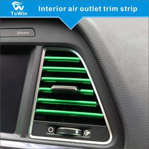 Araba döşeme şerit iç hava çıkış döşeme hattı Esnek DIY Otomobil Klima Havalandırma Çıkışı dekoratif Aksesuarları Şerit