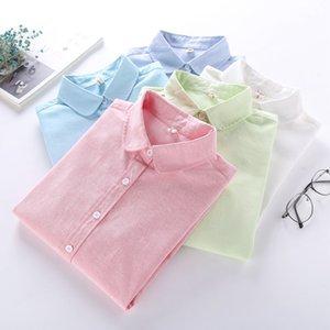 EYM Marque Blouse Shirt Femmes 2018 Nouveau À Manches Longues Dames Tops Solide Blanc Casual Oxford Plus La Taille Chemises Vêtements pour Femmes Blusas