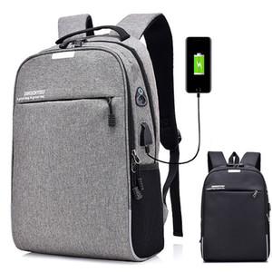 15 15.6 Polegada com USB Interface de Bloqueio de Senha de Nylon Laptop Backpack Sacos de Escola Mochila para Homens Mulheres Estudante