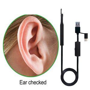 Ouvido USB Limpeza Endoscópio HD Visual Ear Colher Multifuncional Earpick Com Mini Câmera de Cuidados de Saúde Da Orelha Ferramenta de Limpeza