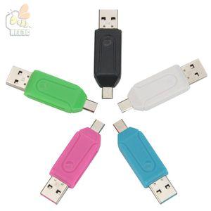 Gros universel 2 en 1 lecteur interne micro USB affichage connecteur OTG TF / SD carte mémoire flash bâton 500 pcs