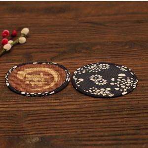 Bamboo Tea Cup Mat Coaster Accesorios de té Kungfu Placemat Cup Holder Dish Pot almohadillas de aislamiento térmico ZA6945