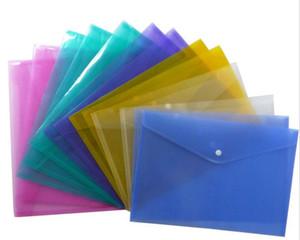 1200pcs أكياس ملف المستند A4 مع زر المفاجئة شفافة الإيداع المغلفات البلاستيكية ملف ورقة المجلدات C157