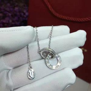 XF Hot 925 Sterling Silver Zircon Collier Collier Rond Collier Tassel Créé Bijoux De Mariage
