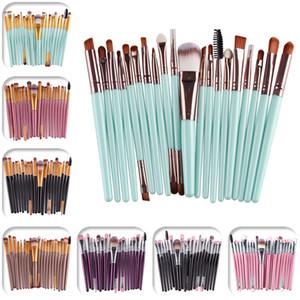 El maquillaje cepilla el kit de herramientas cosmética Fundación sombra de ojos en polvo de la ceja del labio de la pestaña del cepillo 20pcs / Set J1546
