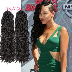 """2.018 paquetes de pelo Pre-Twisted suaves diosa Locs extensión sintética del pelo 100g 18"""" pulgadas Ombre ganchillo Trenzas Kanekalon fibra para las mujeres negras"""