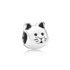 Perle d'alliage d'alliage de chat de compagnie de compagnie de compagnie de compagnie de compagnie jolie amie femmes mode bijoux superbes design de style européen pour bricolage bracelet collier PANZA004-57