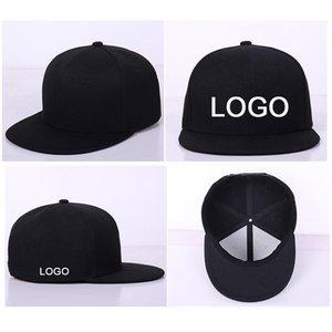 10 pz un sacco all'ingrosso di fabbrica hip hop tappi snapback logo personalizzato / lettera piatta hip hop unisex cappello da baseball dimensione regolabile