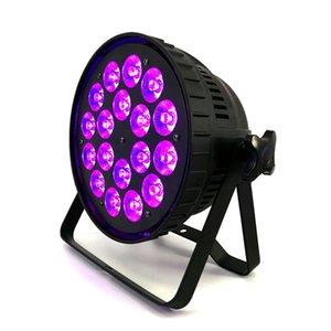 18x18W RGBWA UV Led Stade De La Lumière Par La Lumière Lumières D'affaires Des Lumières Plat Professionnel Par Can Peut Pour La Partie KTV Disco DJ Uplighting