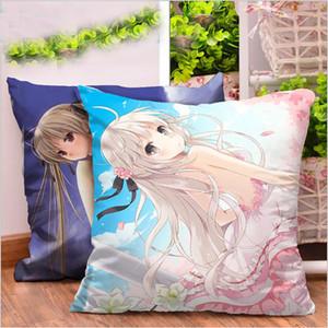 Anime Japão Quadrado Dos Desenhos Animados Animação Em Torno Do Travesseiro de Corpo Presentes Criativos Sofá Almofadas Com Núcleo Dupla-face Almofada Da Cama Casa Têxtil