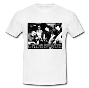 2018 Moda Crossfade American Post Grunge Band Papa Roach Camiseta blanca Camiseta casual de manga corta Camiseta