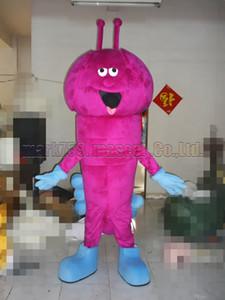Caterpillar Maskottchenkostüm Freies Verschiffen Erwachsene Größe, Caterpillars Luxus Plüsch Spielzeug Karneval Party feiert Maskottchen Fabrikverkauf.