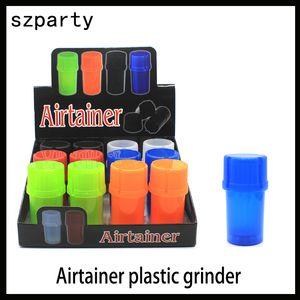 Mais novo Airtainer 2 em 1 Herb Grinder Recipiente Herb Tobacco Storage Acrílico Garrafa Estilo de cinco cores 0266214