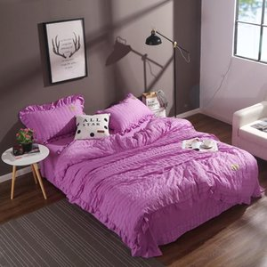 Warm Cotton Bedding Set Fashion 4 Pcs Sheet Duvet Cover 2 Pillowcases Home Textiles Colorful Comforter Bedclothes Queen Size
