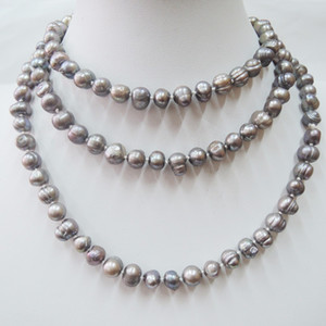 whole sale100% NATURE FRESH-WATER PEARL LONG NECKLACE