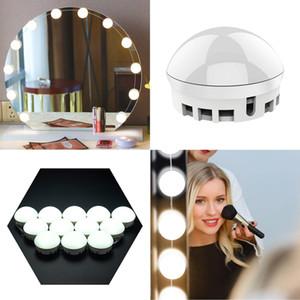 NOUVEAU Hot VENTE Hollywood Style miroir de maquillage lumières LED Miroir Lumières 10 Kit ampoules LED pour Coiffeuse de maquillage avec Touch Dimmer