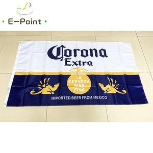 Корона дополнительный флаг пива 3 * 5ft (90 см*150 см) полиэстер флаг баннер украшения для дома