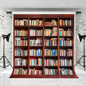 Sueño 5x7ft estantería, fondo retro Fotografía Madera libro para niños Baby Back para disparar Studio School Backdrops Prop 150X220cm