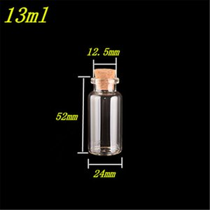 10ml 13ml 15ml Glass Bottles with Cork Empty Glass Bottles Crafts Glass Jars Vial Containers for Decoration 100pcs it