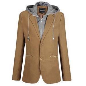 VXO İlkbahar ve Sonbahar erkek Yeni ayrılabilir kapşonlu coat küçük takım sahte iki adet erkek ceket Sıcak Ceketler Hoodies