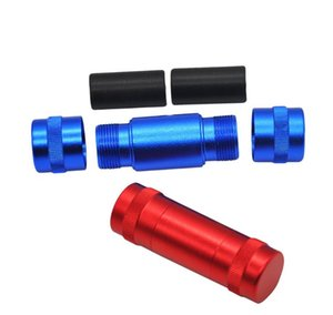 Piezas auxiliares para ahumador, supresor de humo de cilindro de metal de trompeta, soporte de humo de aluminio