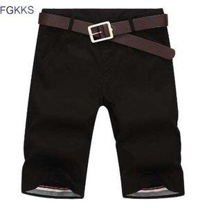 FGKKS Homens Shorts Em Linha Reta Na Altura Do Joelho Zipper Shorts Masculino 2018 Marca de Moda Casual Mens Shorts Bermuda Masculina