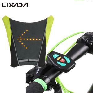 Toptan USB Bisiklet Bisiklet Yansıtıcı Yelek Bisiklet Sırt Çantası Sürme Gece Rehberi Için LED Kablosuz Emniyet Turnning Sinyal Işık Yelek