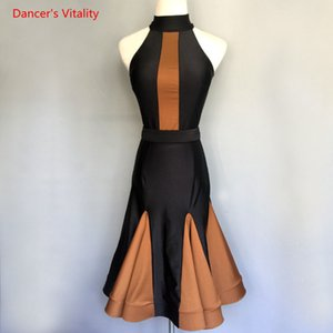 Custom Professional Kids Latin Dance Competition Dress Mujeres / Chicas Latin Ballroom Walzte Tango Dance Stage Performance Ropa