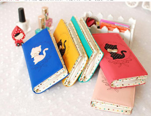 Zip Around Wallet pu Long Fashion Women Wallets Designer Brand cat Purse Lady Party Wallet Female Card Holder