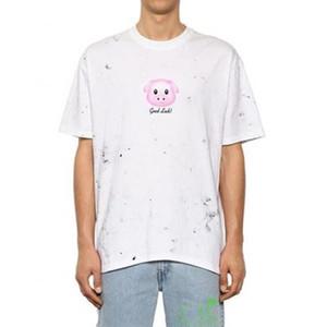 Vetements Rahat Basit T-shirt Tops Moda Karikatür Domuz Baskı Açık Spor Tee Yaz Sokak Plaj Kısa Kollu HFYMTX374