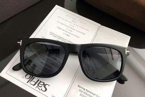 FT0336 Lunettes de soleil carrées noir / gris moke 52MM Sonnenbrille occhiali da sole Lunettes de soleil de luxe pour lunettes unisexes wth box