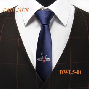 새로운 디자인 넥타이 남자에 대 한 독특한 지퍼 ingwrought 넥타이 고품질 폴 리 에스테 르 비즈니스 넥타이 패션 웨딩 파티 Neckwear