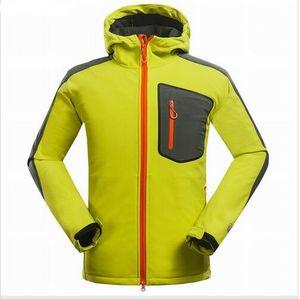 Manteau d'hiver composé veste à coquille souple hommes Sports de plein air loisir manteau sports Montagne escalade randonnée coupe-vent hommes veste