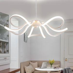Люстра для гостиной простой постмодернистский светодиодный светильник для столовой Nordic творческий лепесток спальня лампа бытовой подвесной потолочный светильник