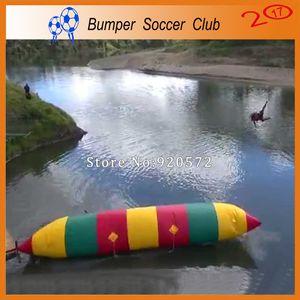 Frete Grátis 8 m * 3 m Inflável Blob Água Salto Air Bag Catapult Água Blob Inflável Salto De Água Travesseiro