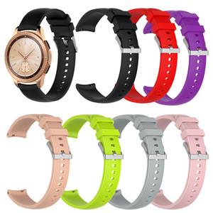 Banda de silicona deportiva de 20 mm para Samsung Galaxy Watch SM-R810 42MM Gear 2 Correa deportiva para Huami Amazfit Bip / Amazfit 2 reloj inteligente