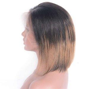 말레이시아 스트레이트 레이스 프런트가 인간의 머리 가발 아기 머리를 가진 4 27 금발 옹 브르 사전 뽑아 가발 (1B)