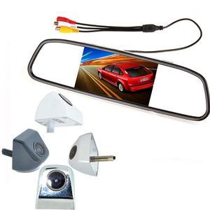 """2 em 1 HD CCD backup câmera de reversão + 4. 3 """"HD 800 * 480 Monitor Espelho de Carro, câmera do estacionamento do carro monitor de espelho retrovisor BP"""