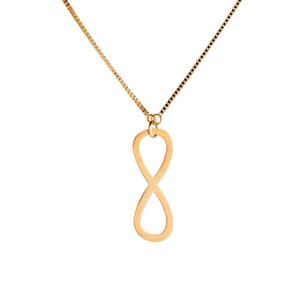 Бесконечная Любовь 8 Образный Кулон Для Женщин Мужчины Из Нержавеющей Стали Бесконечности Ожерелье Бесплатная Цепь Женщины Ювелирные Изделия