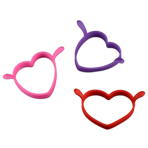 Omelette Mould Originality Binaural Heartshaped Food Grade Resistenza alle alte temperature Silicone New Egg Omelet Tools Hot Sale1 2js V