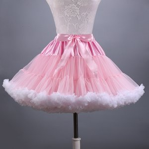 2018 New Adult Short Tulle Pettiskirt Colorful Tutu Skirt Crinoline Jupon Saia for Women