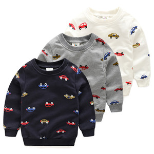 Spring Autumn Cartoon Car Casual Sweat Boys T Shirt Kids Tops Tees Baby Clothes Long Sleeves New 2018 T1 4558DAE