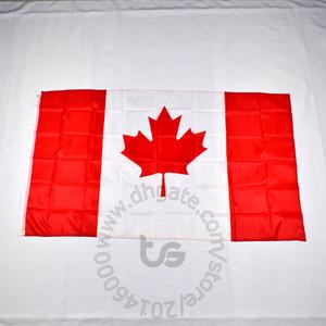 Canadá decoración colgante de la bandera nacional de habitaciones Banner gratuito 3x5 envío FT / 90 * 150cm Colgando de la bandera nacional de Canadá la decoración del hogar bandera de la bandera
