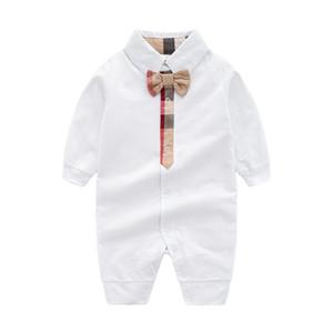 Crianças de Algodão do bebê Pano Cor Sólida Romper Do Bebê Primavera Outono Manga Longa Do Bebê Da Menina do Menino Romper Infantil Macacão Quente