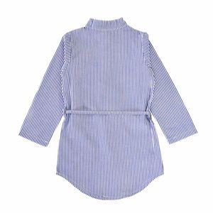 Baby Stripe Kids C3775 Shirt Flowers Clothing Children 2021 Dresses Boutique New Princess Dress Kfibv